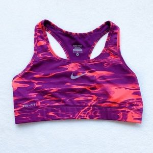 Nike Pro Dry Fit Sports Bra Pink/Purple